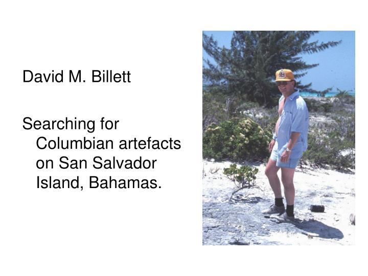 David M. Billett