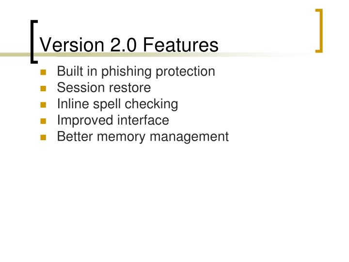 Version 2.0 Features