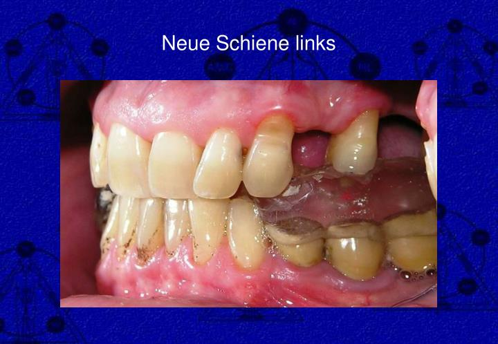Neue Schiene links