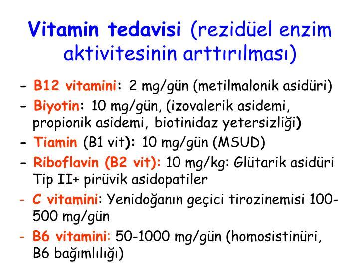 Vitamin tedavisi