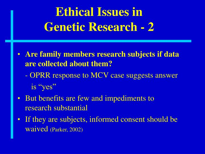 Ethical Issues in