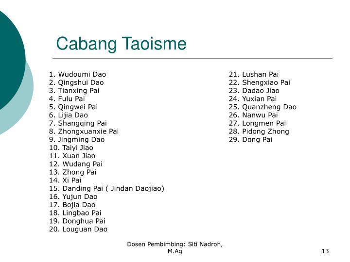 Cabang Taoisme