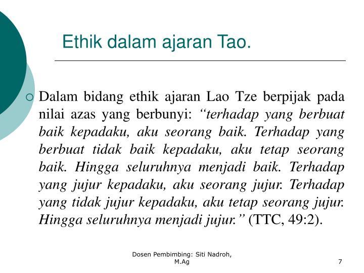 Ethik dalam ajaran Tao.
