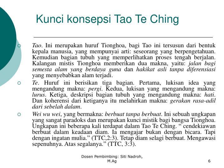 Kunci konsepsi Tao Te Ching