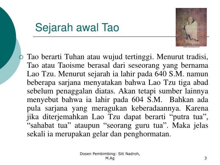 Sejarah awal Tao