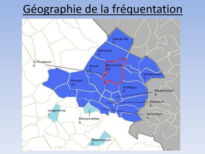 Géographie de la fréquentation