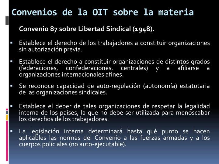 Convenios de la OIT sobre la materia