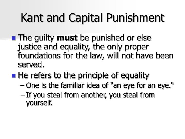 Kant and Capital Punishment