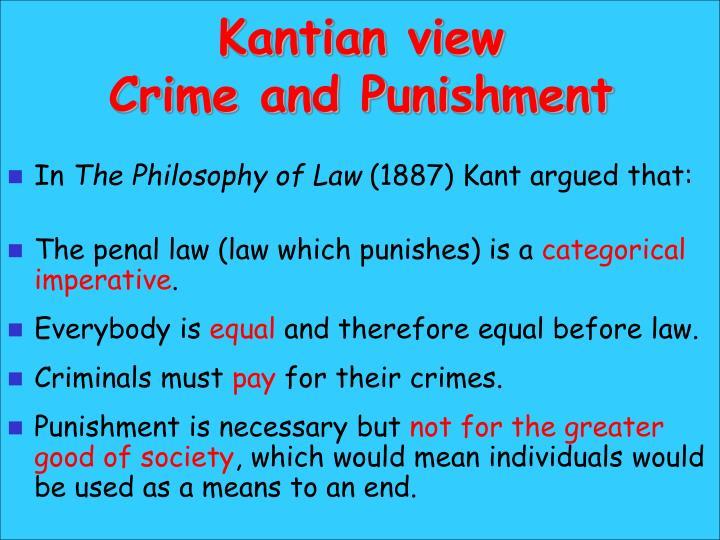 Kantian view