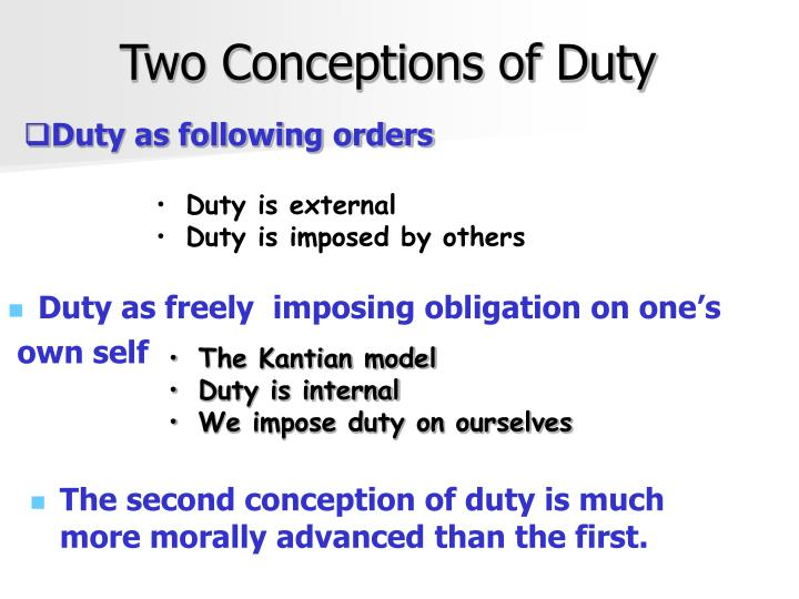 Two Conceptions of Duty
