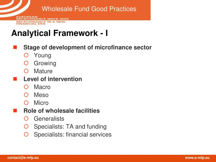 Analytical Framework - I