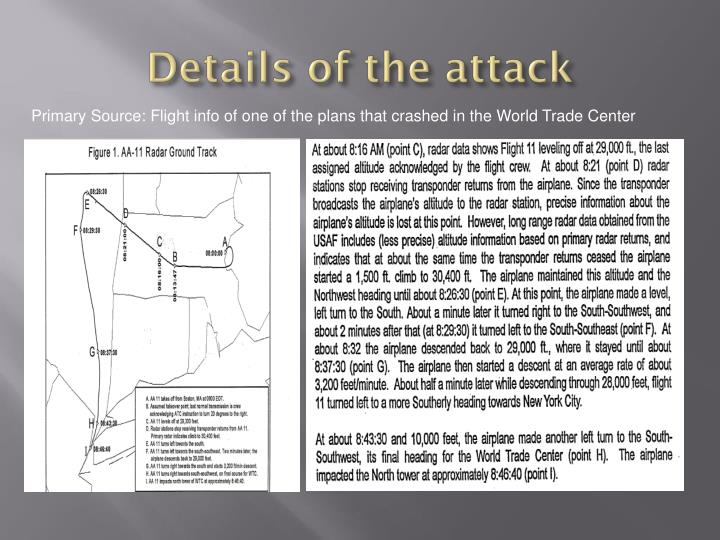 Details of the attack