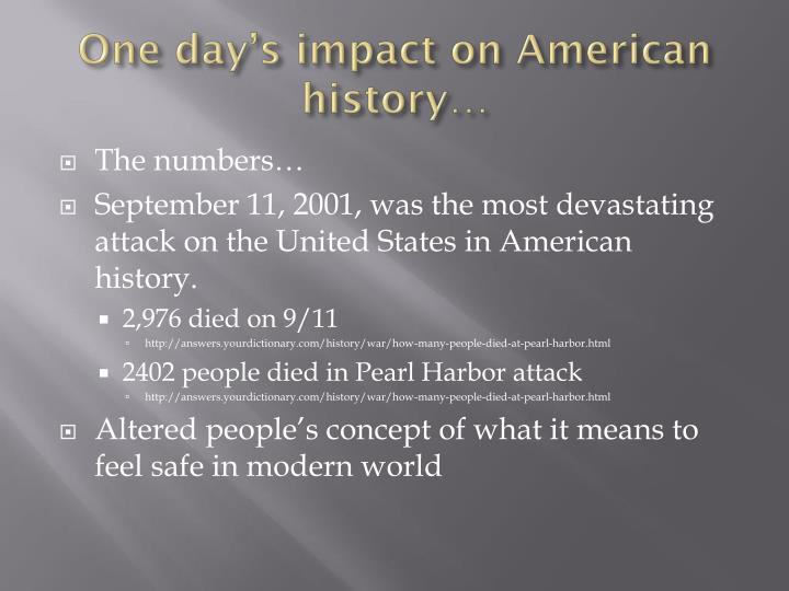 One day's impact on American history…