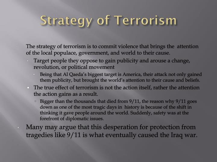 Strategy of Terrorism