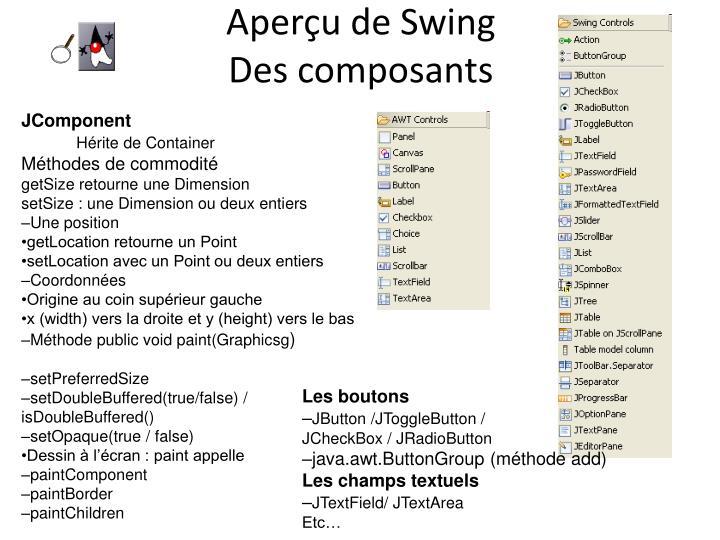 Aperçu de Swing