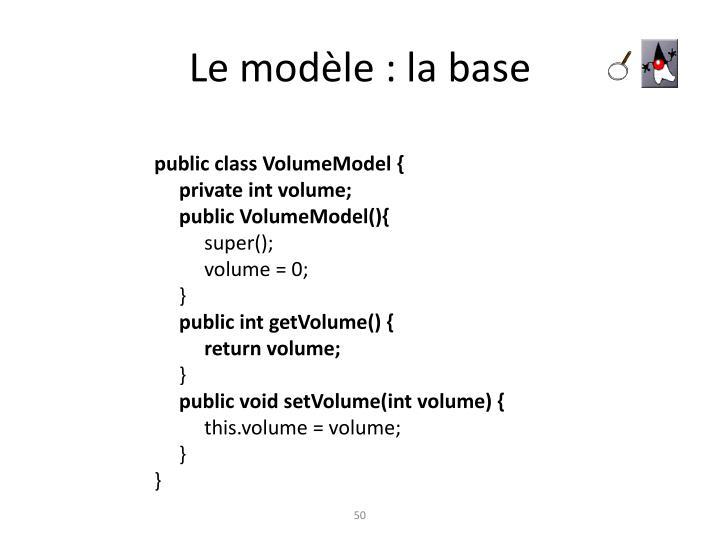 Le modèle : la base