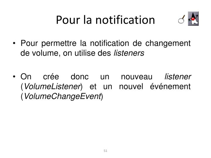 Pour la notification