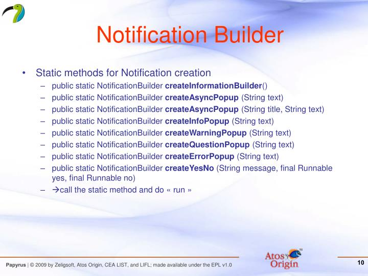 Notification Builder