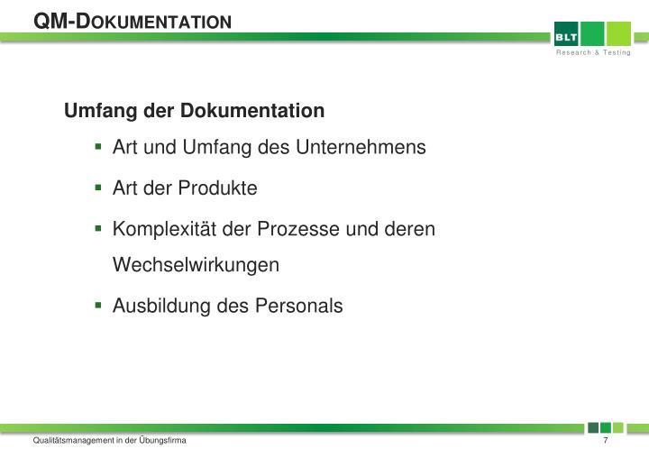 QM-Dokumentation
