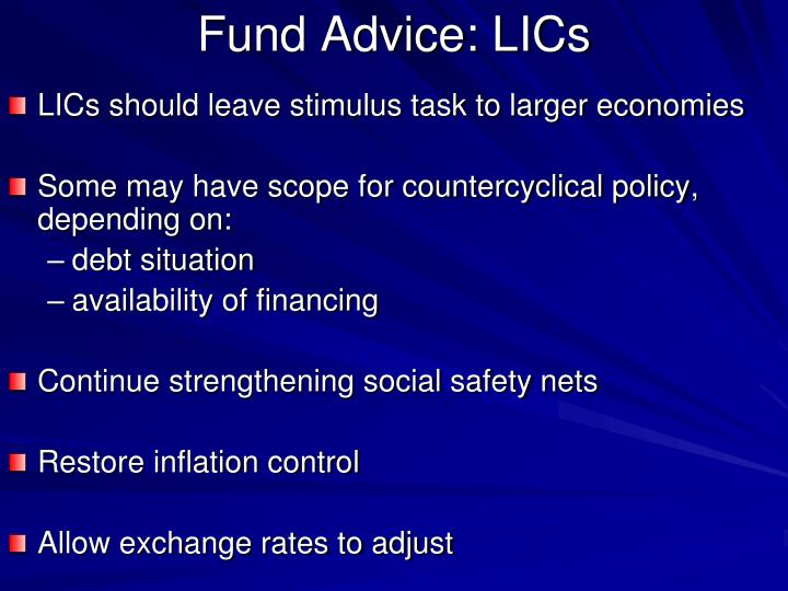 Fund Advice: LICs