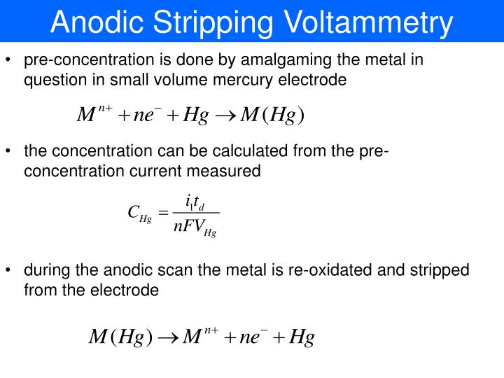 Anodic Stripping Voltammetry