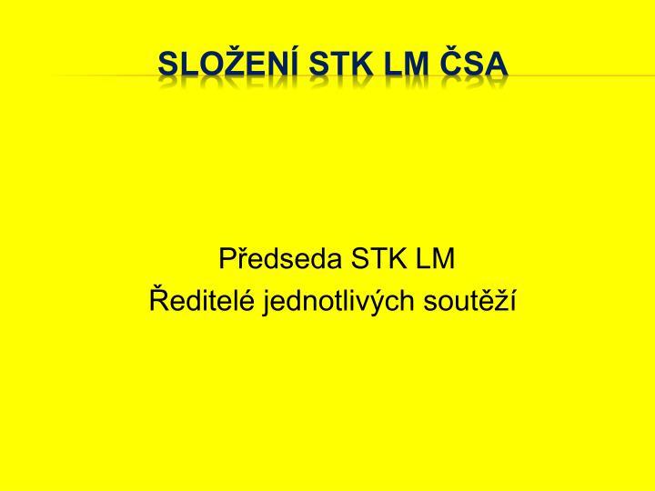 Předseda STK LM