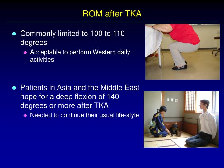 Rom after tka