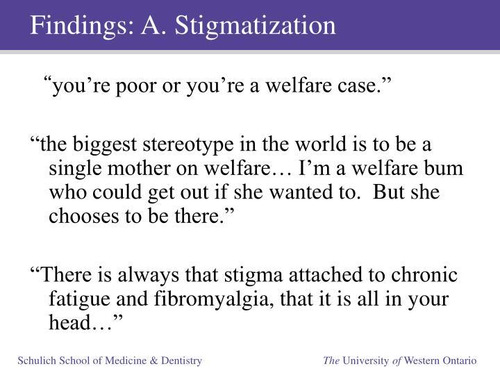 Findings: A. Stigmatization