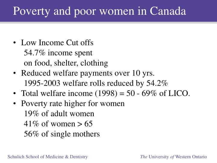 Poverty and poor women in Canada