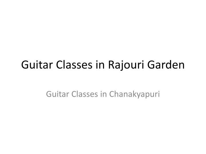 Guitar Classes in