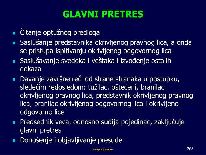GLAVNI PRETRES