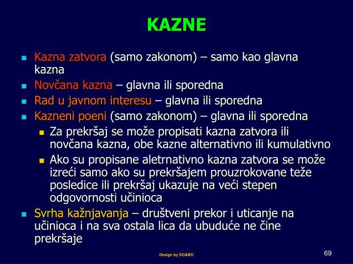 KAZNE