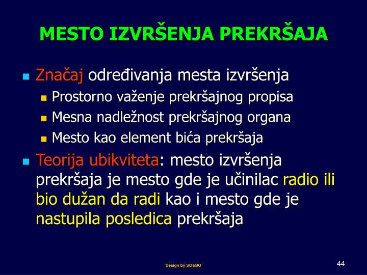 MESTO I
