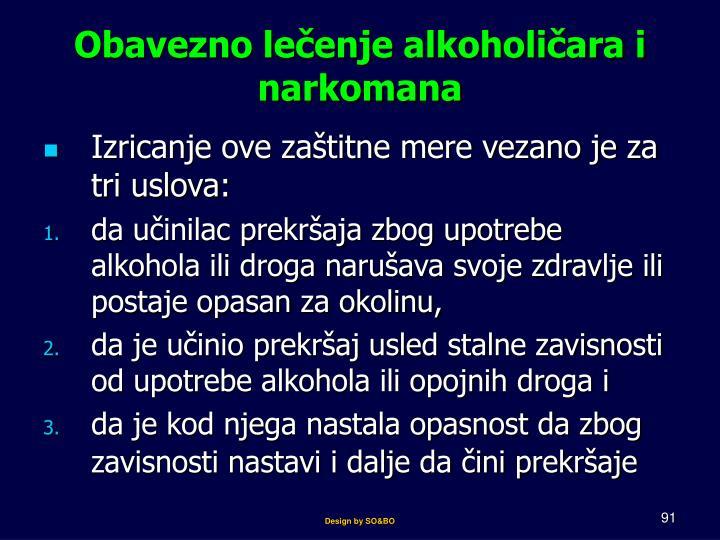 Obavezno lečenje alkoholičara i narkomana