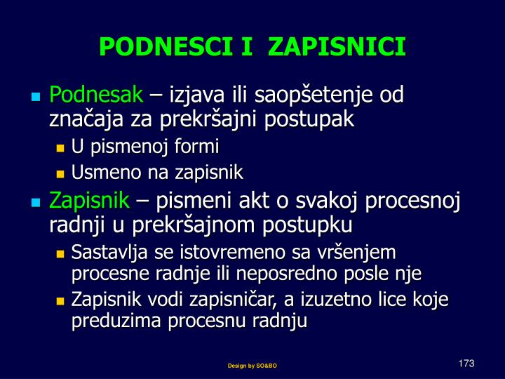 PODNESCI I