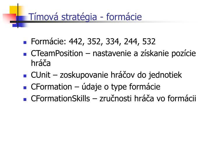 Tímová stratégia - formácie