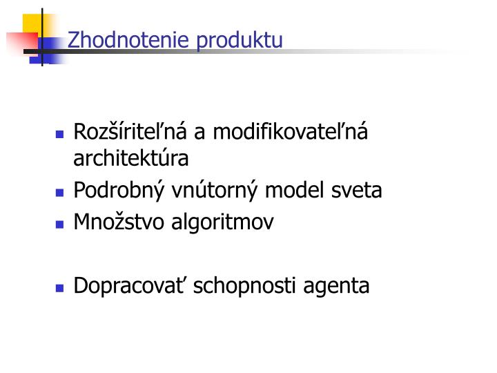 Zhodnotenie produktu