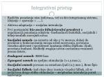 integrativni pristup