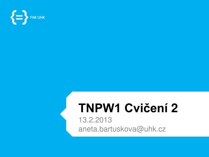 TNPW1 Cvičení
