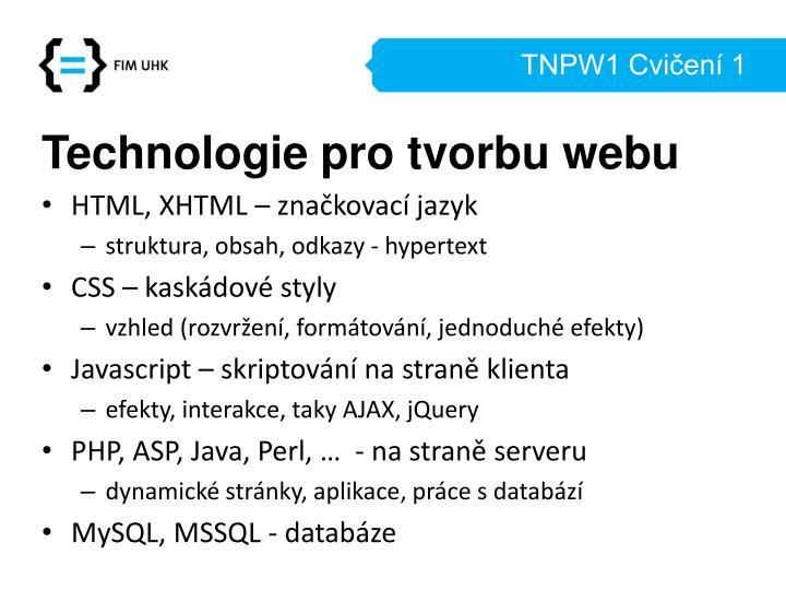 TNPW1 Cvičení 1