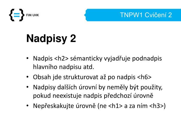 TNPW1 Cvičení 2