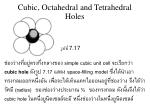 cubic octahedral and tetrahedral holes