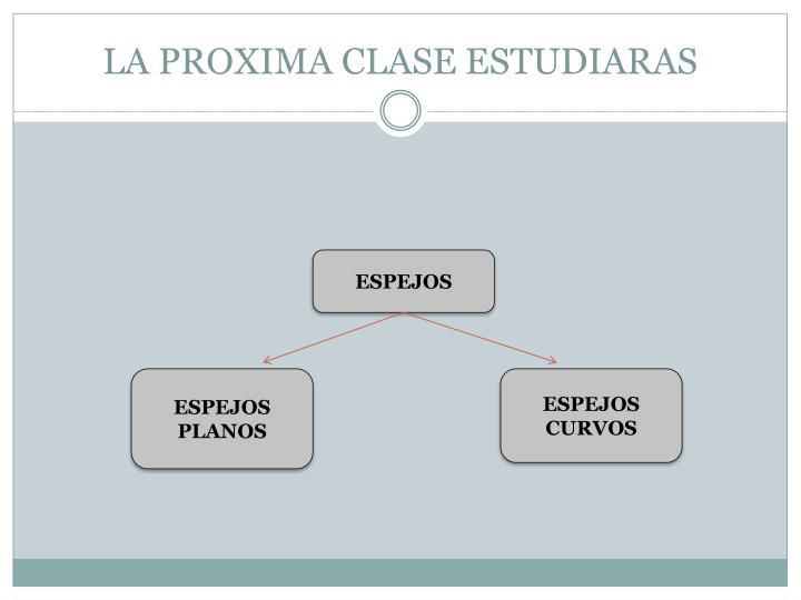 LA PROXIMA CLASE ESTUDIARAS
