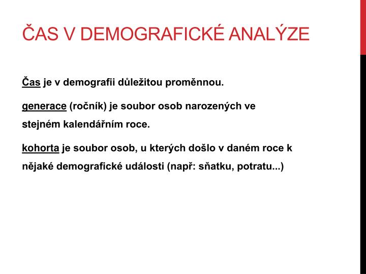 Čas v demografické analýze