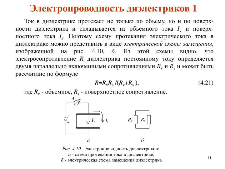 Электропроводность диэлектриков 1