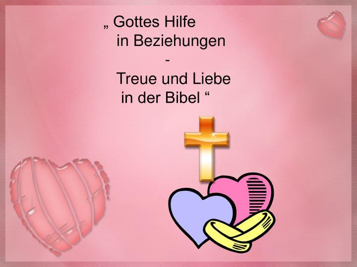 """ Gottes Hilfe"