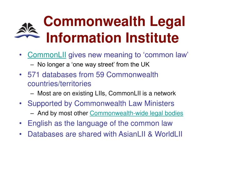 Commonwealth Legal    Information Institute