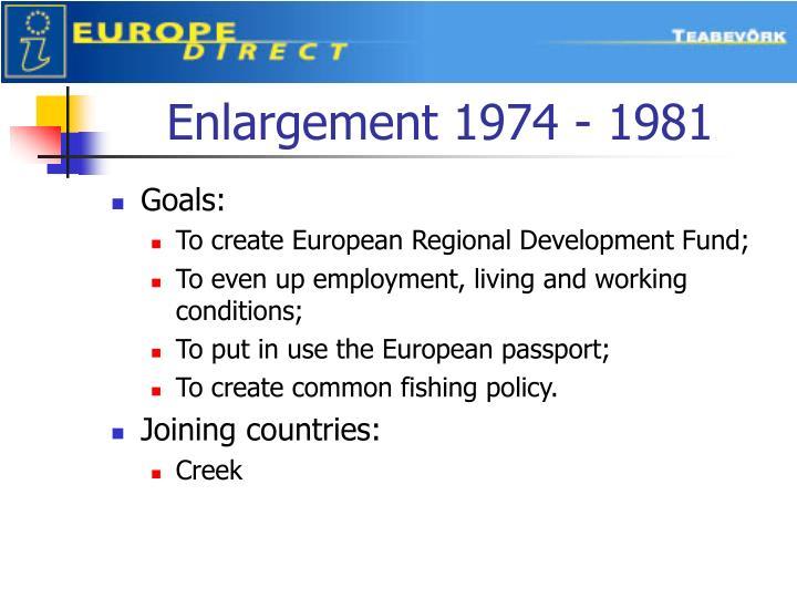 Enlargement 1974 - 1981