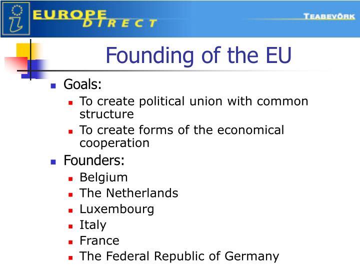 Founding of the EU