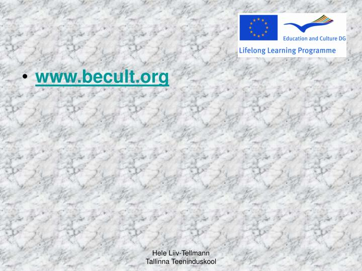 www.becult.org